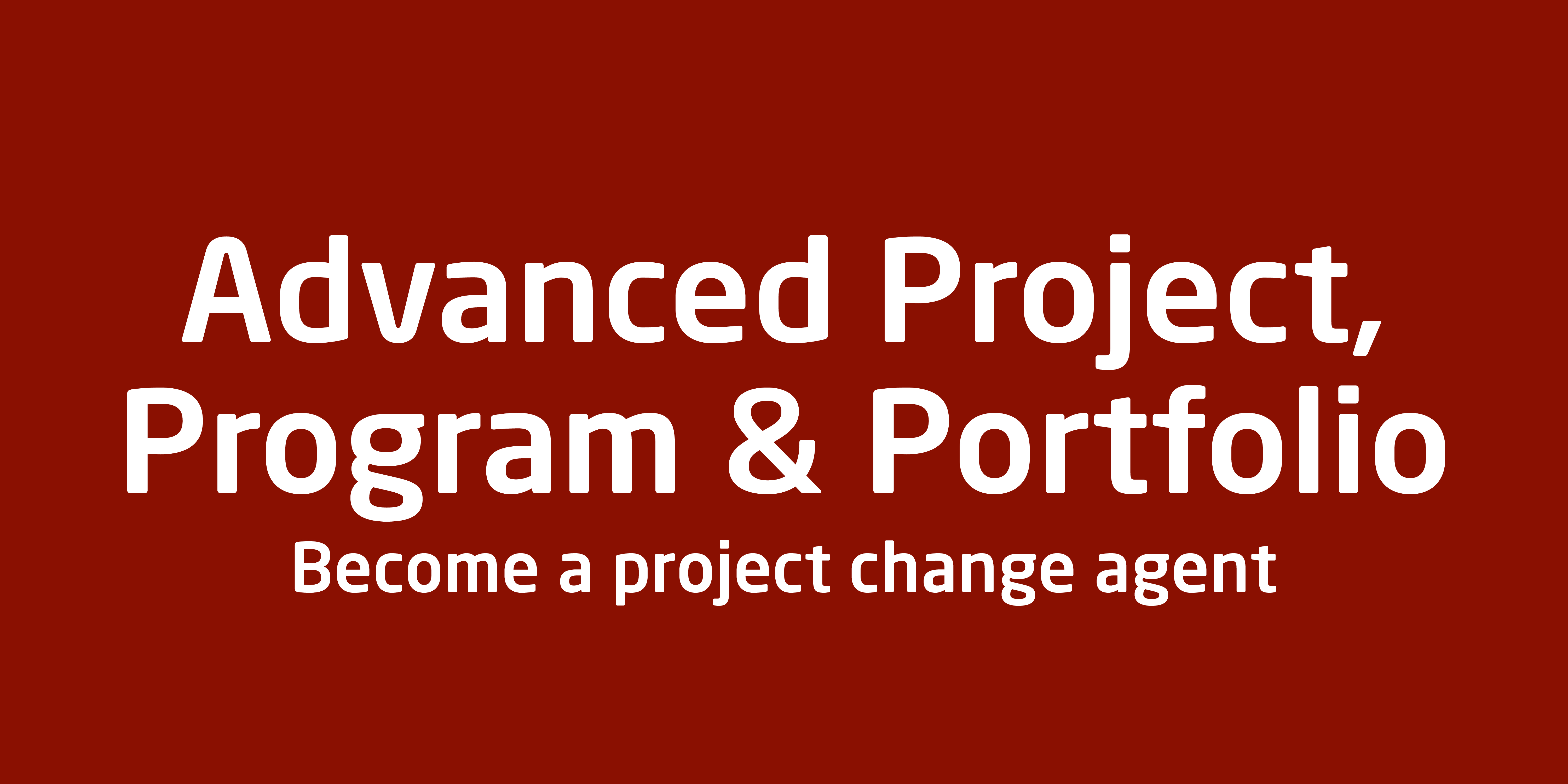 Advanced Project & portfolio management